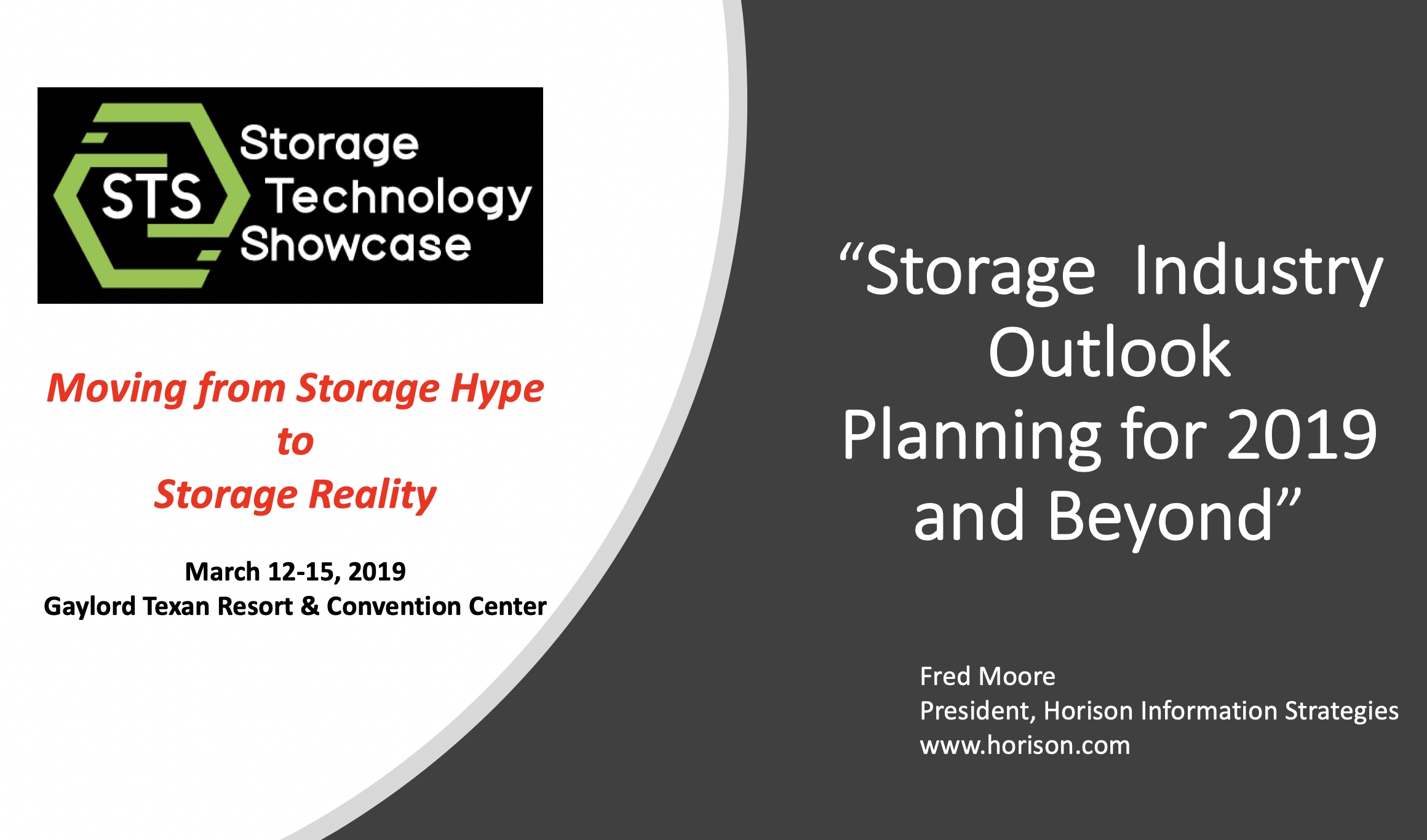 PowerPoint: Storage Industry Outlook (Dallas, TX)
